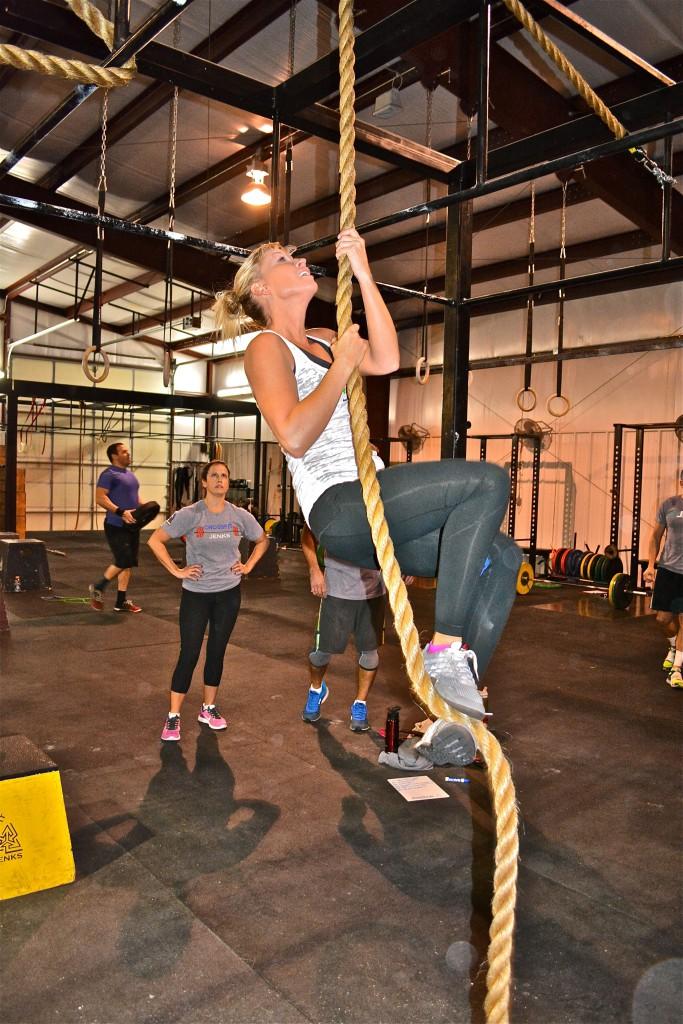 Sarah (rope climb)