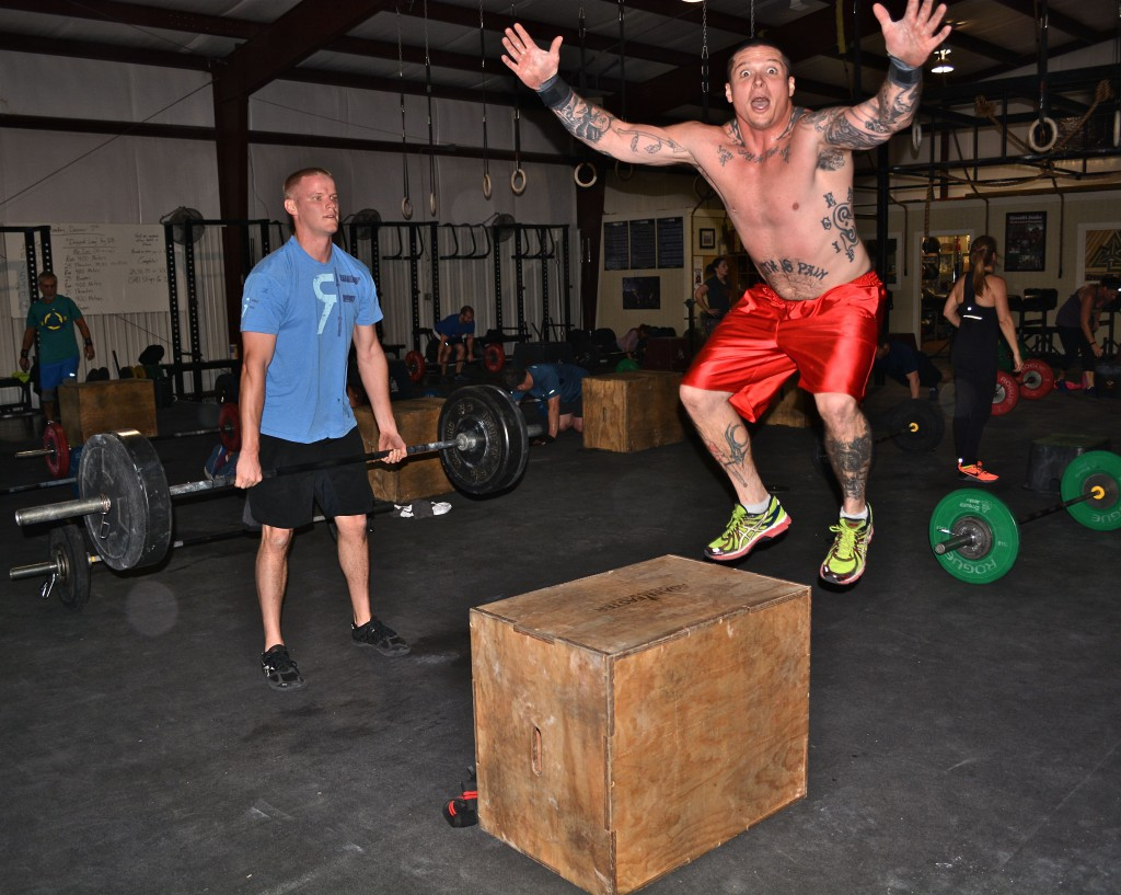 Deadlifts and box jumps