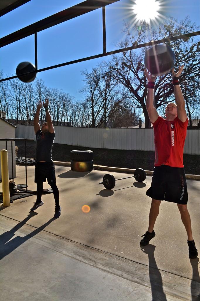 Stephen & Justin (wall ball shots)
