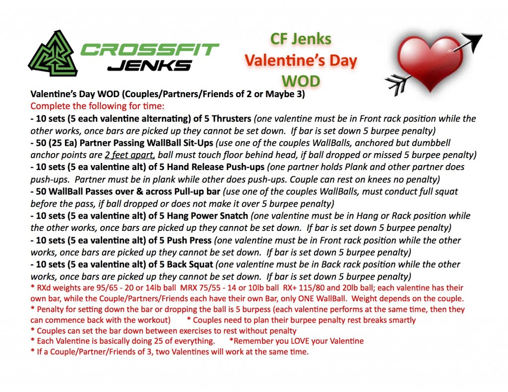 2017 CF Jenks Valentines Day WOD